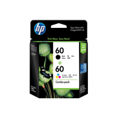 HP CN067AA 60 Black + Tri-Colour Genuine Original Printer Ink Cartridge Combo Pack