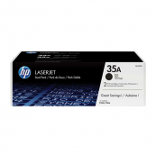 HP CB435AD 35A Black Genuine Original Printer Toner Cartridge Dual Pack