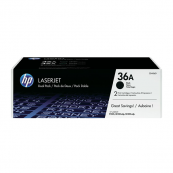 HP CB436AD 36A Black Genuine Original Printer Toner Cartridge Dual Pack