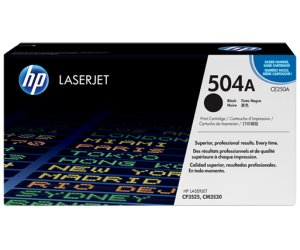 HP CE250A 504A Black Genuine Original Printer Toner Cartridge