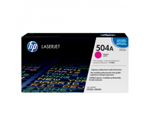HP CE253A 504A Magenta Genuine Original Printer Toner Cartridge