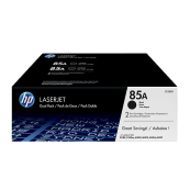 HP CE285AD 85A Black Genuine Original Printer Toner Cartridge Dual Pack