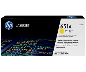 HP CE342A 651A Yellow Genuine Original Printer Toner Cartridge