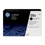 HP CE505XD 05X Black Genuine Original Printer Toner Cartridge Dual Pack