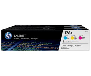 HP CF341A 126A CMY Genuine Original Printer Toner Cartridge