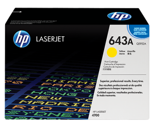 HP Q5952A 643A Yellow Genuine Original Printer Toner Cartridge