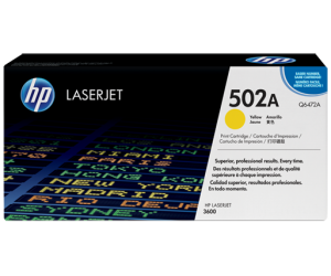 HP Q6472A 502A Yellow Genuine Original Printer Toner Cartridge