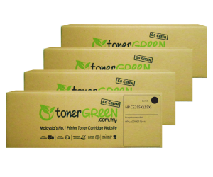 TonerGreen CE255X 55X Black Compatible Printer Toner Cartridge Super Pack 4X