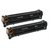 TonerGreen CB540A 125A Black Compatible Printer Toner Cartridge Value Pack 2X