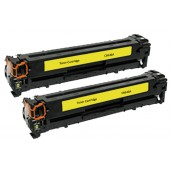 TonerGreen CB542A 125A Yellow Compatible Printer Toner Cartridge Value Pack 2X