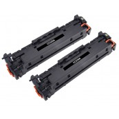 TonerGreen CC530A 304A Black Compatible Printer Toner Cartridge Value Pack 2X