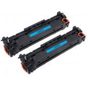 TonerGreen CC531A 304A Cyan Compatible Printer Toner Cartridge Value Pack 2X
