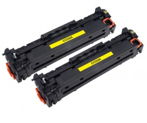 TonerGreen CC532A 304A Yellow Compatible Printer Toner Cartridge Value Pack 2X