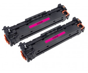 TonerGreen CC533A 304A Magenta Compatible Printer Toner Cartridge Value Pack 2X