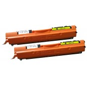 TonerGreen CE312A 126A Yellow Compatible Printer Toner Cartridge Value Pack 2X