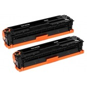 TonerGreen CE320A 128A Black Compatible Printer Toner Cartridge Value Pack 2X