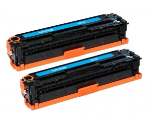TonerGreen CE321A 128A Cyan Compatible Printer Toner Cartridge Value Pack 2X
