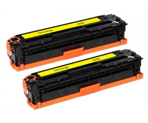 TonerGreen CE322A 128A Yellow Compatible Printer Toner Cartridge Value Pack 2X