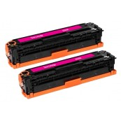 TonerGreen CE323A 128A Magenta Compatible Printer Toner Cartridge Value Pack 2X
