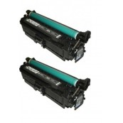 TonerGreen CE400A 507A Black Compatible Printer Toner Cartridge Value Pack 2X
