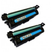TonerGreen CE401A 507A Cyan Compatible Printer Toner Cartridge Value Pack 2X