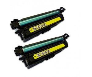 TonerGreen CE402A 507A Yellow Compatible Printer Toner Cartridge Value Pack 2X