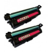 TonerGreen CE403A 507A Magenta Compatible Printer Toner Cartridge Value Pack 2X