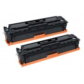 TonerGreen CE410A 305A Black Compatible Printer Toner Cartridge Value Pack 2X