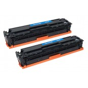 TonerGreen CE411A 305A Cyan Compatible Printer Toner Cartridge Value Pack 2X