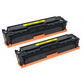 TonerGreen CE412A 305A Yellow Compatible Printer Toner Cartridge Value Pack 2X