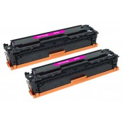 TonerGreen CE413A 305A Magenta Compatible Printer Toner Cartridge Value Pack 2X