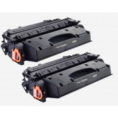 TonerGreen CE505X 05X Black Compatible Printer Toner Cartridge Value Pack 2X