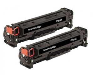TonerGreen CF210A 131A Black Compatible Printer Toner Cartridge Value Pack 2X