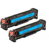 TonerGreen CF211A 131A Cyan Compatible Printer Toner Cartridge Value Pack 2X