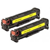 TonerGreen CF212A 131A Yellow Compatible Printer Toner Cartridge Value Pack 2X