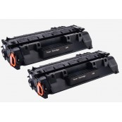 TonerGreen CF280A 80A Black Compatible Printer Toner Cartridge Value Pack 2X
