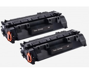 TonerGreen CF280X 80X Black Compatible Printer Toner Cartridge Value Pack 2X