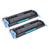 TonerGreen Q6001A 124A Cyan Compatible Printer Toner Cartridge Value Pack 2X