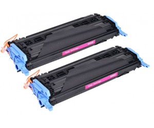 TonerGreen Q6003A 124A Magenta Compatible Printer Toner Cartridge Value Pack 2X