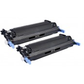 TonerGreen Q6470A 501A Black Compatible Printer Toner Cartridge Value Pack 2X