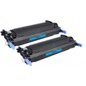 TonerGreen Q6471A 502A Cyan Compatible Printer Toner Cartridge Value Pack 2X