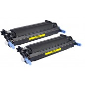 TonerGreen Q6472A 502A Yellow Compatible Printer Toner Cartridge Value Pack 2X