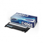 Samsung CLT-C406S Cyan Genuine Original Printer Toner Cartridge