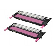 TonerGreen CLT-M409S Magenta Compatible Printer Toner Cartridge Value Pack 2X