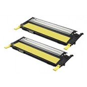 TonerGreen CLT-Y409S Yellow Compatible Printer Toner Cartridge Value Pack 2X