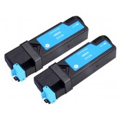 TonerGreen DocuPrint C1110 (CT201115) Cyan Compatible Printer Toner Cartridge Value Pack 2X