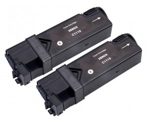 TonerGreen DocuPrint C1110 (CT201114) Black Compatible Printer Toner Cartridge Value Pack 2X