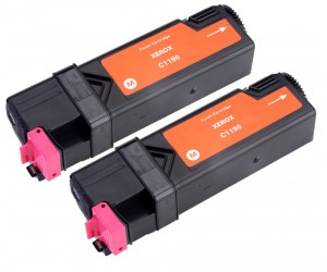 TonerGreen DocuPrint C1190FS (CT201262) Magenta Compatible Printer Toner Cartridge Value Pack 2X
