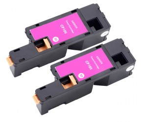 TonerGreen DocuPrint CP205 (CT201593) Magenta Compatible Printer Toner Cartridge Value Pack 2X, 1K Print Yield