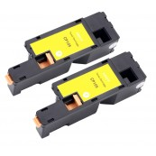 TonerGreen DocuPrint CP105b (CT201594) Yellow Compatible Printer Toner Cartridge Value Pack 2X, 1K Print Yield